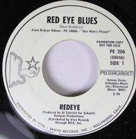Rock Promo 45 Redeye - Red Eye Blues / The Making Of A Hero On Pentagram