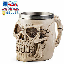 Skull Skeleton 3D Skeleton Tankard Mug Cup Coffee Beer Pirate Gothic Halloween B