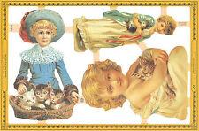 Chromo Le Suh enfant et chat A124 Child and Cat