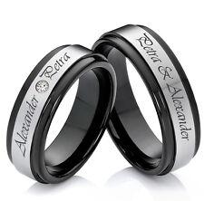 Eheringe Verlobungsringe Partnerringe aus Wolfram mit Ringe Lasergravur W746