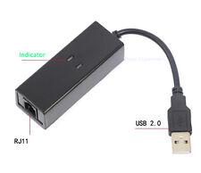 USB 56K External Dial Up Voice V.90 V.92 Fax Data Modem Window 7 Win 8 XP Linux