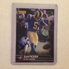 Sam Ficken #209 RC Rams / Penn State 1/1 Made 2017 Panini Instant Black NFL
