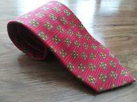 "Ermenegildo Zegna Red Floral 57"" Length 3.5"" Width Silk Blend Tie Made in Italy"