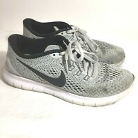 Nike Free Run RN Running Shoes Sneakers 831509-101 Womens Size 7 Gray White
