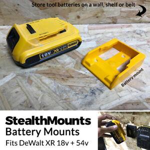 5x YELLOW Battery Mounts for DeWalt 18v XR 54v FlexVolt Li Ion Batteries Holder