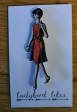 Vintage Lady Brooch red yellow pink blue dress options