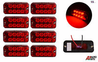 8X RED MARKER SIDE 8 LED TRAILER TRUCK LORRY RECOVERY POSITION LIGHTS LAMPS 12V