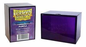 Gaming Box Dragon Shield Magic PURPLE Viola Porta Mazzo Scatola 100 Carte