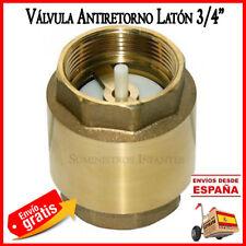 "VALVULA DE RETENCION 3/4"" valvula antiretorno 25 mm bomba agua tubo 25mm tuberia"