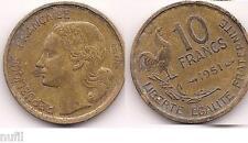 Francia FRANCE 10 Francs 1951 KM# 915.1