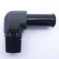 1/2 NPT to 15mm 16mm (5/8) BLACK 90 DEGREE ELBOW PUSH ON BARB TAIL Hose Adapter