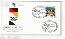 1994**FDC 1°JOUR!!**COMITE INTERNATIONAL OLYMPIQUE-CIO-BONN** TIMBRE ALLEMAGNE