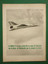 10/1964 PUB AVIONS MARCEL DASSAULT MIRAGE IV FAS AN52 ARMEE DE L'AIR ORIGINAL AD