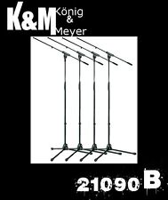 4 Pack K&M 21090B  210/9 Mic Stand & Boom Konig & Meyer Free US 48 State Ship!