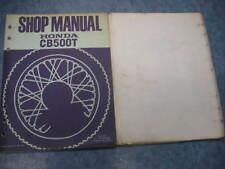 Honda Manual Taller CB500T 1974 74 CB 500T