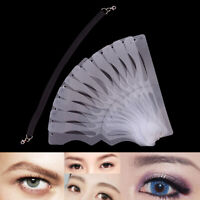 1Pc microblading eyebrow stencil makeup reusable measuring shaper tattoo rule XJ