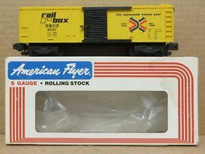 American Flyer 4-9707 Rail Box Car S-Gauge LNIB