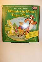 Winnie the Pooh and Tigger Too Walt Disney Records Vintage Storybook Album 3813