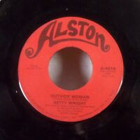 "Betty Wright Outside Woman / Baby Sitter 45 7"" Alston NORTHERN SOUL VG"