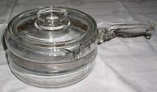 Vintage Pyrex #6213 FLAMEWARE Clear Glass 1.5 qt Covered Saucepan