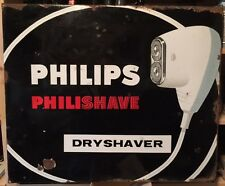 ORIGINAL PHILIPS PHILISHAVE DRYSHAVER ENAMEL SIGN 1950s-1960s