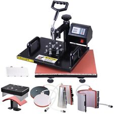6in1 Heat Press Machine Digital Transfer Sublimation Diy T Shirt Mug Hat Printer