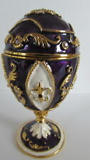 Design Toscano Dresser Jewelry Box Fh26281 Enameled Egg Royal French Pourpre