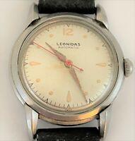Vintage 1940's Leonidas Heuer Felsa 690 Bidynator Automatic Men's Watch