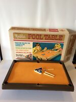 Vintage 1967 Montclair Pool Table For Kids Tabletop Transogram Game