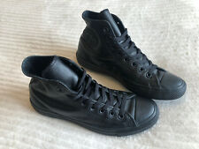 Black Leather Converse Trainers Size Uk 8