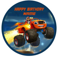 1 x 19cm ROUND BLAZE AND THE MONSTER MACHINES Wafer Rice Paper Edible Cake