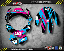 Leatt Brace 4.5 custom rider id kit - decals / stickers DUKE STYLE