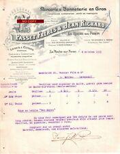 Document du 08/10/1925 PASSET & JEAN RICHARD Mercerie - La Roche-sur-Foron 74