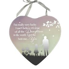 Reflections Mirror Glass Hanging Heart Plaque Gift – Daughter