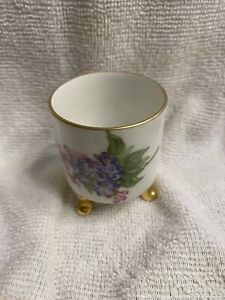 Mitterteich Bavara Footed Cup Purple Flower Gold Trim Demitasse