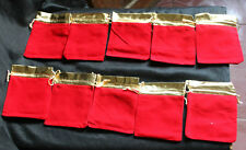 10 Red Good Luck Cloth Bag Holding Crystal Stones or Money or Mobile or Gift Bag