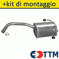 FIAT 500 PANDA II 1.1 1.2 1.2 LPG 2003- Silenziatore Marmitta Posteriore+