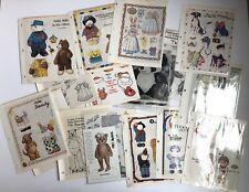 New ListingLot of Uncut Teddy Bears and Other Animals Paper Dolls from Old Magazines (2)