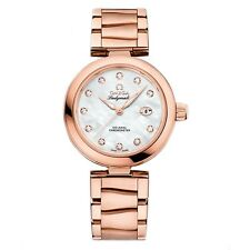 NEW Omega De Ville Ladymatic 18k Sedna Gold 34mm Watch 425.60.34.20.55.004