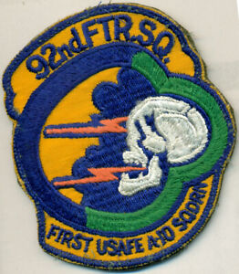 USAF 92nd FIGHTER SQUADRON PATCH