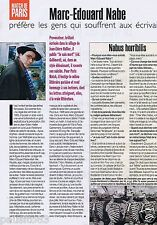 Coupure de presse Clipping 1998 Marc-Edouard Nabe   (1 page)