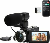 4K 48MP Video Camera Camcorder, Digital YouTube Vlogging Camera, 16X Digital Zoo