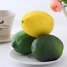 10x Faux Plastic Lemons Decorative Foam Artificial Imitation Home Pretty Decor