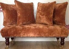 Footstool Stool Plus Four Cushions Laura Ashley Caitlyn Copper Fabric