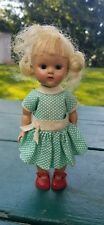 vintage walking Ginny Doll vogue dolls blonde painted eyelashes