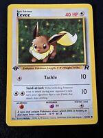 Eevee 1st Edition - Team Rocket 55/82 - Pokemon Card - Mint/Pack fresh PSA?