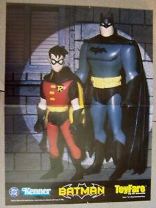 POSTER -  DC COMICS TOYFARE BATMAN & ROBIN ACTION FIGURE 10x13 POSTER 1998
