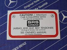 Original Mercedes Aufkleber SRS Airbag W124 W126