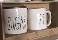 Rae Dunn SUGAR Cellar Canister Container Set SIP MUG wood lid LL  Set New