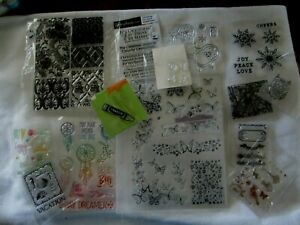 Cling & Clear Unmounted Stamps Large Variety, You Choose Scrapbooking